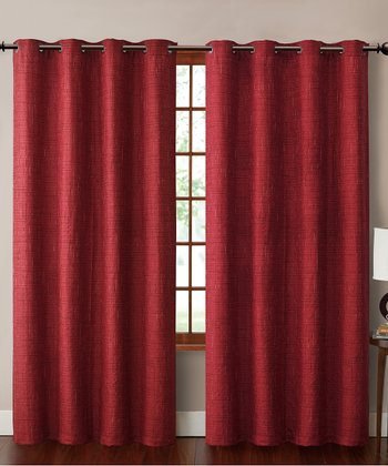 Red Carmella Curtain Panel