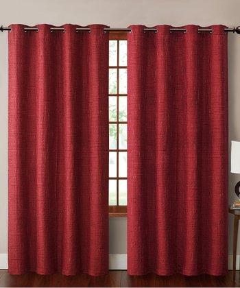 Red Carmella Curtain Panel