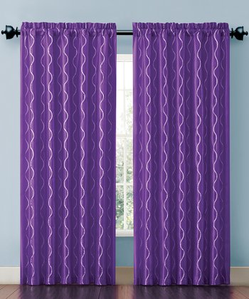 Purple Cassidy Curtain Panel