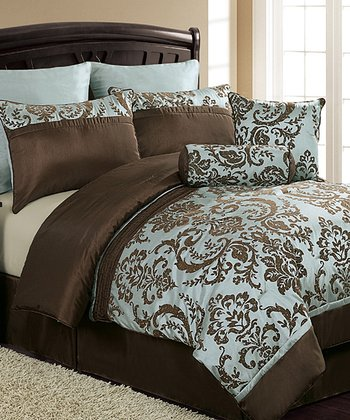 Blue & Brown Daniella Comforter Set