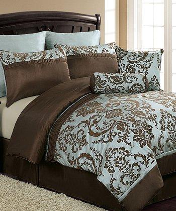 Blue & Brown Daniella Comforter Set