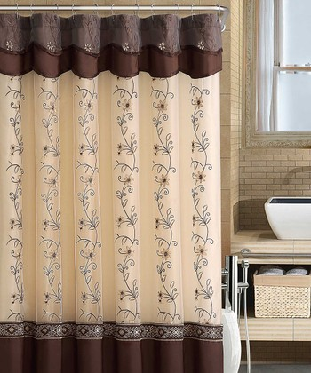 Chocolate Daphne Shower Curtain