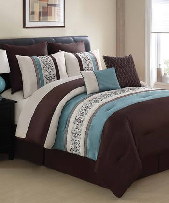 Blue & Brown Florence Comforter Set