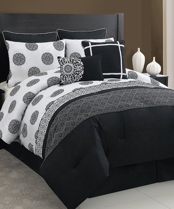 Black & White Isabella Comforter Set