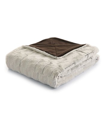 Chocolate & White Helen Throw