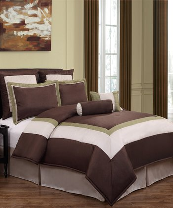 Chocolate Hotelier Comforter Set