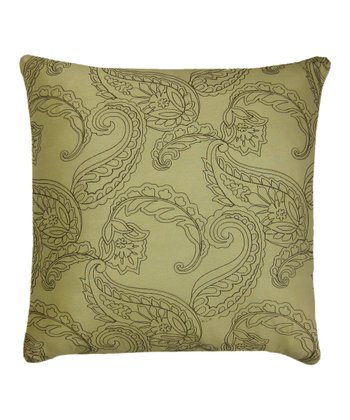 Celery & Chocolate Huntington Throw Pillow
