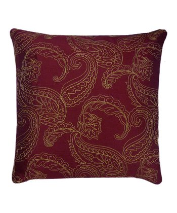 Red & Gold Huntington Throw Pillow
