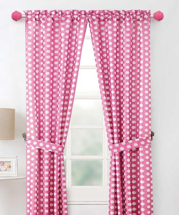 Pink Layla Curtain Panel - Set of Two