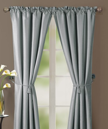 Silver Lincoln Curtain Panel - Set of Two