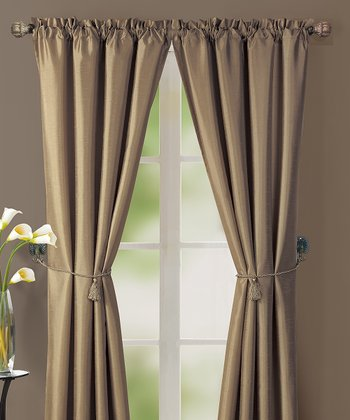 Taupe Lincoln Curtain Panel - Set of Two