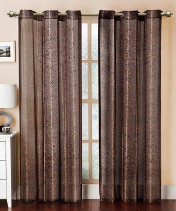 Chocolate Leopard Grommet Curtain Panel