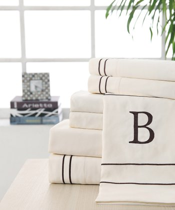 'B' Monogram Sheet Set