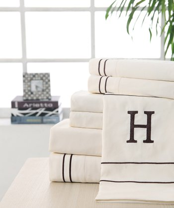 'H' Monogram Sheet Set