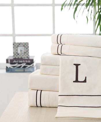 'L' Monogram Sheet Set