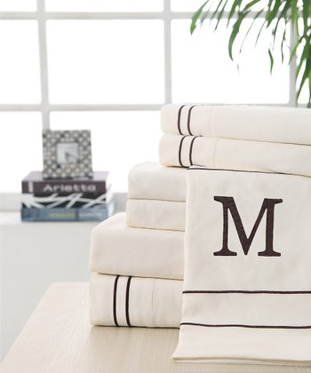 'M' Monogram Sheet Set