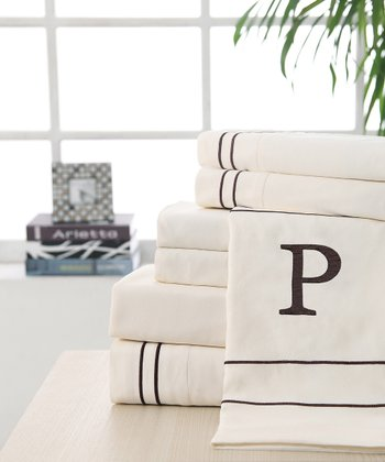 'P' Monogram Sheet Set