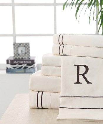 'R' Monogram Sheet Set