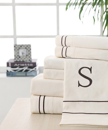 'S' Monogram Queen Sheet Set