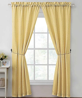 Gold Madison Curtain Panel - Set of Two