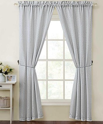 Silver Madison Curtain Panel - Set of Two