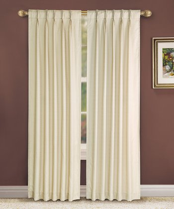 Beige Pinch Pleat Manchester Curtain Panel