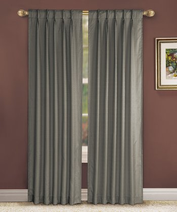 Charcoal Pinch Pleat Manchester Curtain Panel