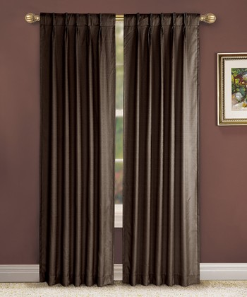 Chocolate Pinch Pleat Manchester Curtain Panel