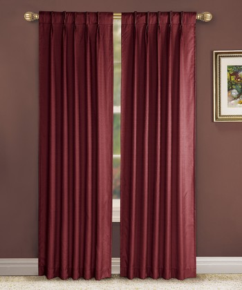 Merlot Pinch Pleat Manchester Curtain Panel