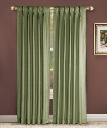 Sage Pinch Pleat Manchester Curtain Panel