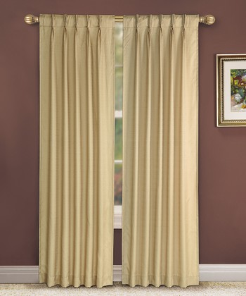 Taupe Pinch Pleat Manchester Curtain Panel