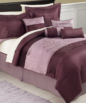 Purple Mia King Comforter Set