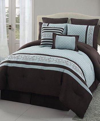 Blue Montero Comforter Set