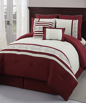 Red Montero Comforter Set