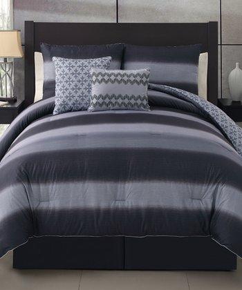 Black & Gary Mapletown Comforter Set