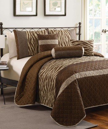 Brown Nairobi Quilt Set