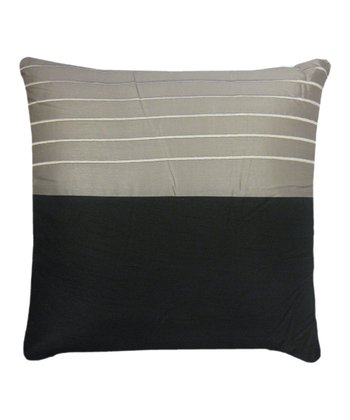 Black & Silver Embroidered Pillow