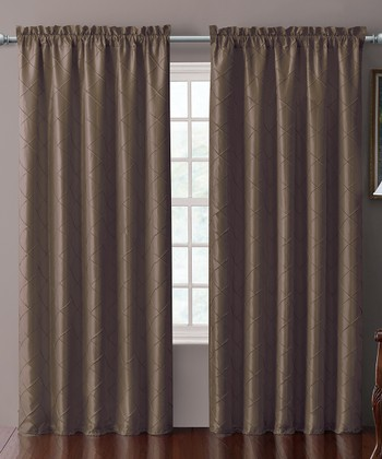 Chocolate Sable Pin Tuck Curtain Panel