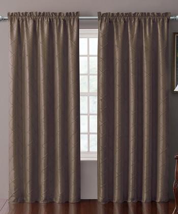 Chocolate Sable Pin Tuck Curtain Panel