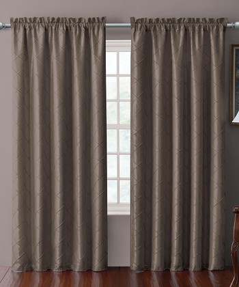 Cappuccino Sable Pin Tuck Curtain Panel