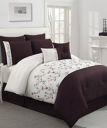 Plum Sadie Queen Comforter Set