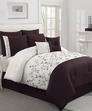 Plum Sadie Queen Comforter Set