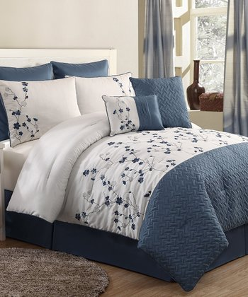 Blue Sadie Comforter Set