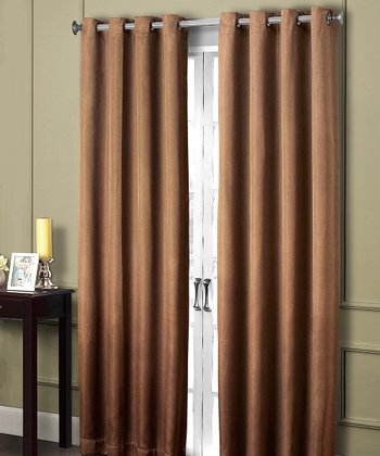Rust Summit Grommet Blackout Curtain Panel