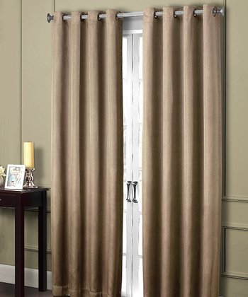 Taupe Summit Blackout Grommet Panel Curtain
