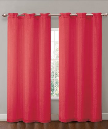 Red Sparkle Penelope Curtain Panel