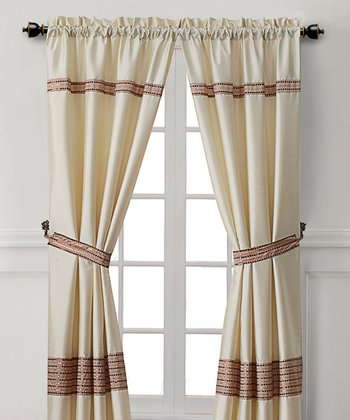 Ivory Soriano Curtain Panel - Set of Two