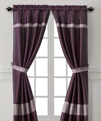 Purple Soriano Curtain Panel - Set of Two