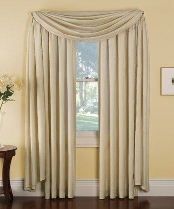 Beige Stella Grommet Curtain Panel
