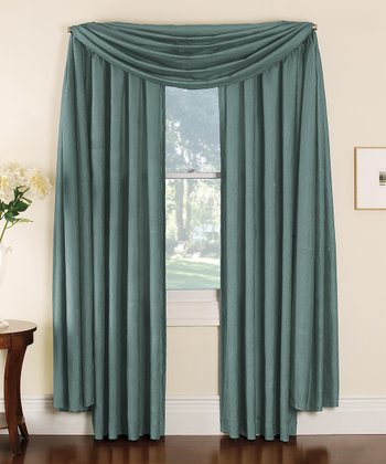 Blue Stella Grommet Curtain Panel